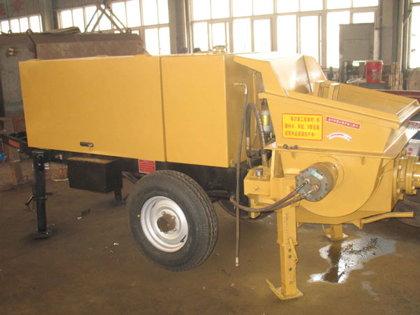 concrete trailer pump