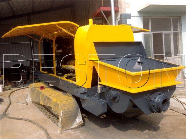 crawler type concrete pump