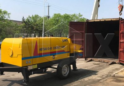 concrete pump exported