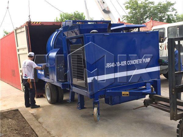 diesel concrete mixer pump sent to Fiji