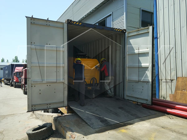 Diesel concrete pump to Tanzania