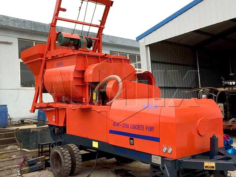 Aimix JBS40 concrete mixer pump exported
