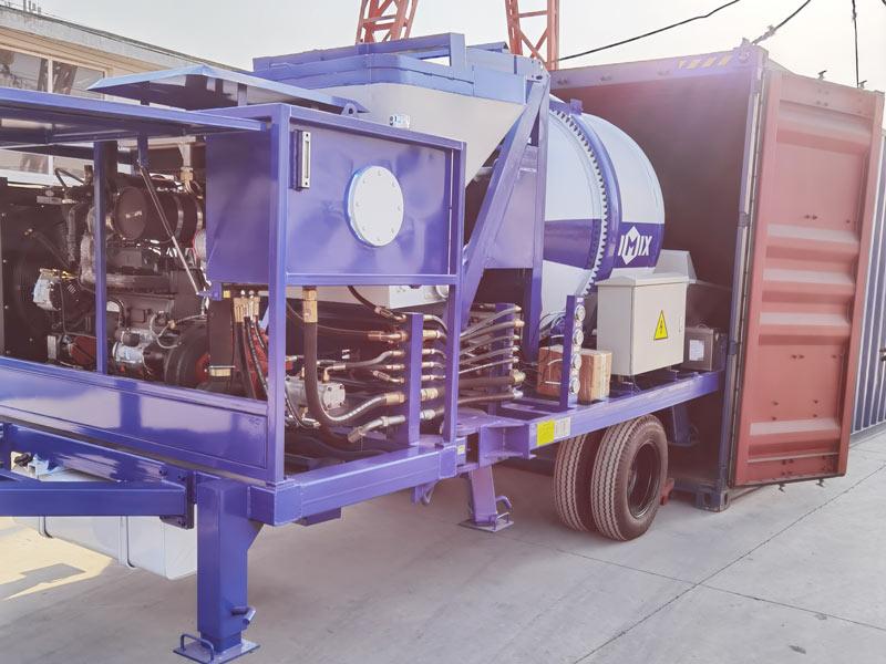 40 concrete mixer pump loaded