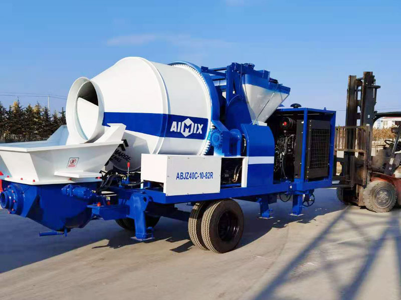 40 diesel concrete mixer pump exported