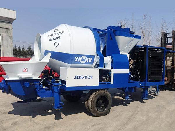 ABJZ30C diesel concrete mixer with pump