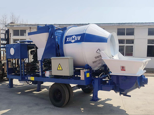 ABJZ30C diesel concrete mixer with pumps